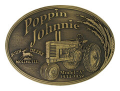 Montana Silversmiths Model A Poppin Johnnie Heritage Attitude Belt Buckle, , hi-res
