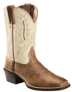 Ariat Brown Sport Outfitter Cowboy Boots - Square Toe , , hi-res