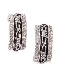 Montana Silversmiths Vintage Charm Cuff Earrings, , hi-res
