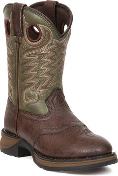 Durango Youth Boys' Olive Green Lil' Durango Cowboy Boots - Round Toe, , hi-res