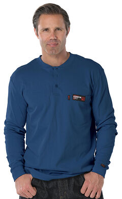 Cinch WRX Flame Resistant Long Sleeve Henley Shirt, , hi-res