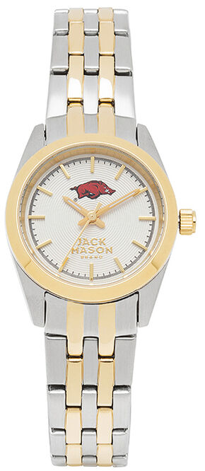 Jack Mason Women's University of Arkansas Two-Tone Bracelet Watch , Multi, hi-res