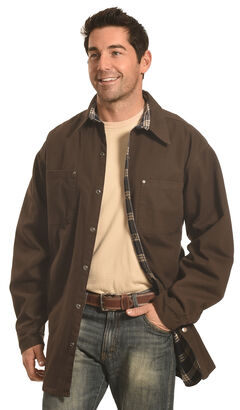 Forge Workwear Men's Chocolate Lined Shirt Jacket , , hi-res
