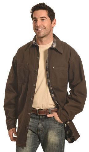 Forge Workwear Men's Chocolate Lined Shirt Jacket , Chocolate, hi-res