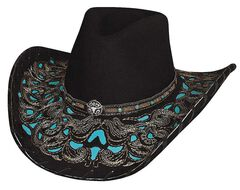 Bullhide Taking My Chances Wool Cowgirl Hat, , hi-res