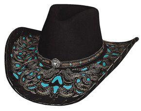 Bullhide Taking My Chances Wool Cowgirl Hat, Black, hi-res