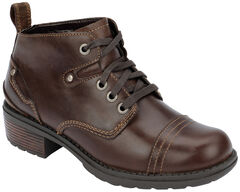 Eastland Women's Brown Overdrive Ankle Boots, , hi-res