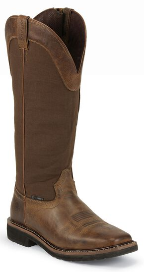 Justin Original Fielder Brown Snake Proof Boots - Composite Toe, Tan, hi-res