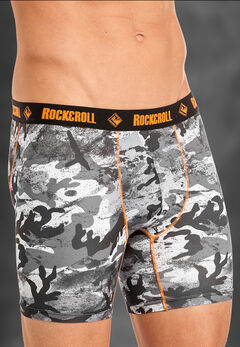 "Rock and Roll Cowboy Men's Grey Camo 6"" Boxer Briefs , , hi-res"