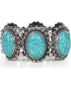 Shyanne Women's Turquoise Concho Bracelet, , hi-res