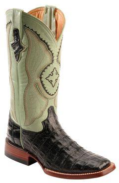Ferrini Caiman Belly Crocodile Cowgirl Boots - Wide Square Toe, , hi-res