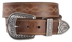 Ariat Fatbaby Distressed Leather Belt, , hi-res