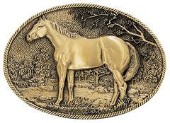 Montana Silversmiths Horse Profile Heritage Attitude Belt Buckle, , hi-res