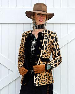 Tasha Polizzi Women's Leopard Print Diva Jacket , Gold, hi-res