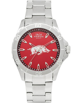 Jack Mason University of Arkansas Men's Color Dial Sport Bracelet Watch, Silver, hi-res
