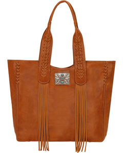 American West Golden Tan Mojave Canyon Large Zip Top Tote , , hi-res