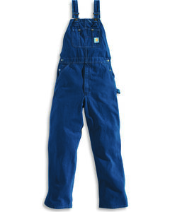 Carhartt Bib Washed Denim Work Overalls - Big & Tall, , hi-res