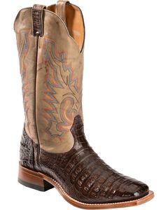 Boulet Caiman Belly Cowboy Boots - Square Toe, , hi-res