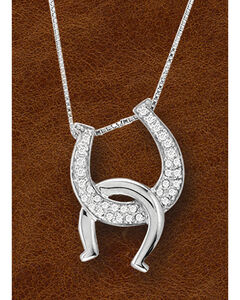 Kelly Herd Sterling Silver Interlocking Horseshoe Pendant, , hi-res