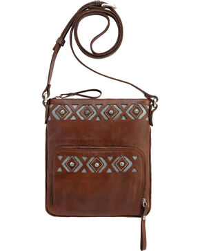 American West Moon Dancer Chestnut Brown Crossbody Bag, Chestnut, hi-res