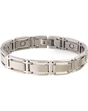 Sabona Men's Executive Symmetry Stainless Steel Magnetic Bracelet, Steel, hi-res