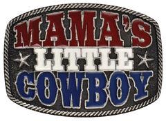 "Montana Silversmiths ""Mama's Little Cowboy"" Kid's Attitude Belt Buckle, , hi-res"