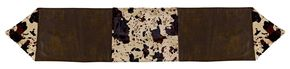 HiEnd Accents Faux Cowhide Table Runner, Multi, hi-res