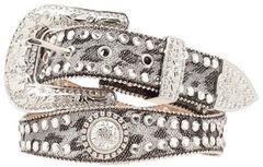 Blazin Roxx Scalloped Leopard Print Embellished Belt, , hi-res