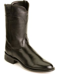 Old West Leather Roper Cowboy Boots, , hi-res