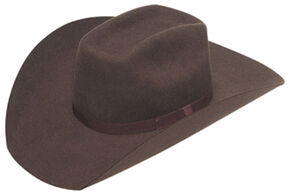 Twister Kids' Wool Flat Bow Hat, Chocolate, hi-res