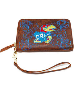 Gameday Boots University of Kansas Leather Wristlet, , hi-res