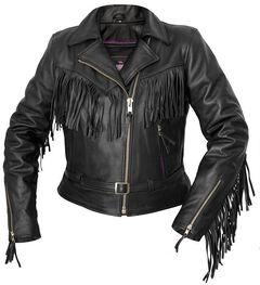 Interstate Leather Fringe Riding Jacket - Reg, , hi-res
