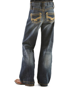 Wrangler Rock 47 Girls' Gold Embroidery Bootcut Jeans - 4-6X, , hi-res
