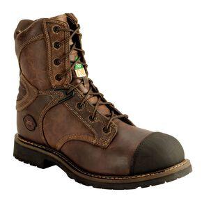 Justin Rugged Utah Work Boots - Composite Toe, Brown, hi-res