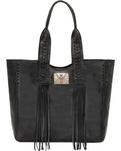 American West Black Mojave Canyon Large Zip Top Tote , , hi-res