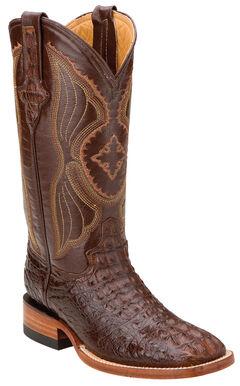 Ferrini Hornback Caiman Cowgirl Boots - Square Toe, , hi-res