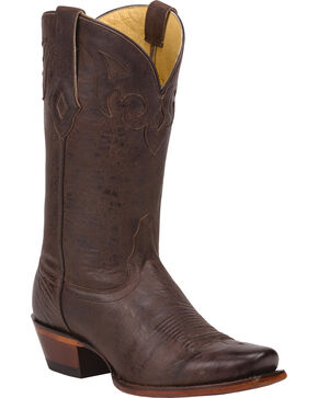 Tony Lama Cafe Crush 100% Vaquero Cowgirl Boots - Sq Toe, Brown, hi-res
