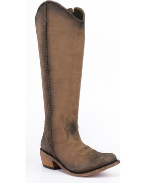 Liberty Black Women's Beige Vegas Tall Boots - Round Toe , Taupe, hi-res
