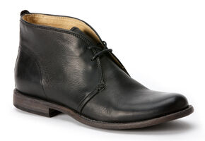 Frye Phillip Chukka Shoes, Black, hi-res