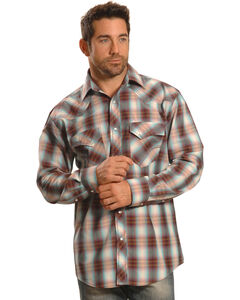 Crazy Cowboy Men's Plaid Heavy Stitch Western Snap Shirt , , hi-res