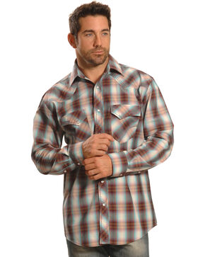 Crazy Cowboy Men's Plaid Heavy Stitch Western Snap Shirt , Multi, hi-res