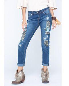 Grace in LA Women's Patch Front Jeans , , hi-res