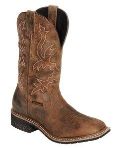 Dan Post Nogales Distressed Waterproof Work Boots - Wide Square Toe, , hi-res