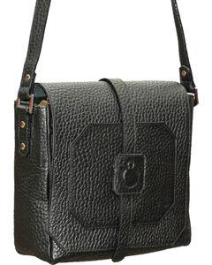 Designer Concealed Carry Black Cubic Crossbody Bag, , hi-res