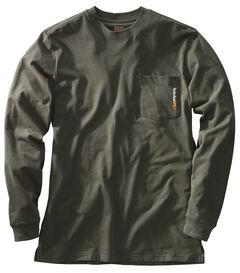 Timberland PRO Men's Base Plate Blended Long Sleeve T-Shirt, Olive Green, hi-res