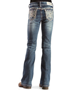 Grace in L.A. Girls' Bejeweled Bootcut Jeans, , hi-res