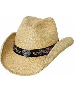 Bullhide Crazy For You Panama Straw Cowgirl Hat, , hi-res
