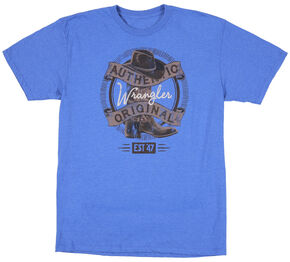 Wrangler Men's Authentic Original Boot T-Shirt, Royal, hi-res
