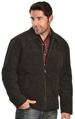 Vintage Leather Men's Black Suede Jacket, , hi-res