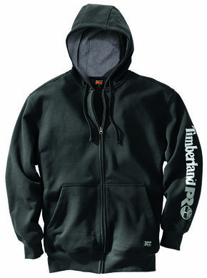 Timberland Pro Men's Hood Honcho Water-Repellent Full-Zip Hoodie, Black, hi-res